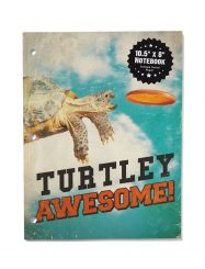 Was And Now - Typo - 10.5 x 8 inches notebook - Turtley awesome