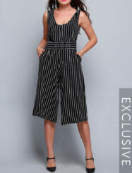 Was and Now - Fashion Clothing - Assorted Colors Striped Designed Jumpsuits