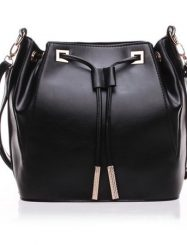 Was and Now - Fashion Clothing - Drawstring Graceful Stylish Pu Shoulder Bags