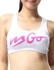 Was and Now - Fashion Clothing - Letter Printed Round Neck Sports Bra