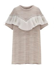Was and Now - Fashion Clothing - Mesh Patchwork Falbala Charming Shift-dress