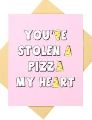 Was And Now - Typo - Valentines day card 2017 - Pizza heart