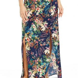 Was And Now - Club Tropicana Maxi Skirt