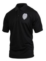 Was And Now - Rothco Moisture Wicking Security Polo Shirt with Badge