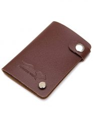 Was and Now - Fashion Clothing - 10 Card Slots PU Leather Card Holder With Buckle