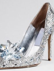 Was And Now - Shoespie Rhinestone Pointed Toe Stiletto Crystal Heels