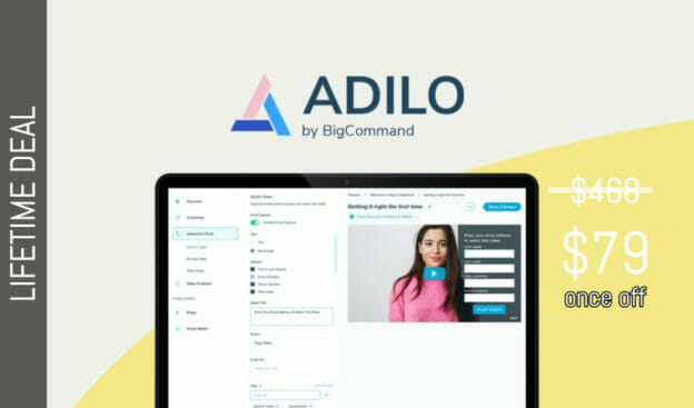 WAS AND NOW - Adilo Lifetime Deal for $79 WAS $468.00