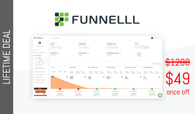 WAS AND NOW - Funnelll Lifetime Deal for $49 WAS $1200.00
