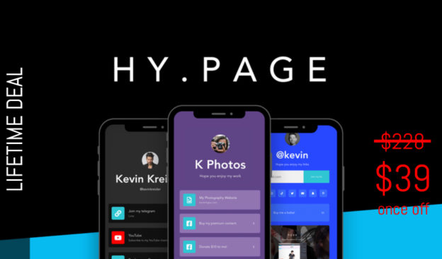 WAS AND NOW - Hy.page Lifetime Deal for $39 WAS $228.00