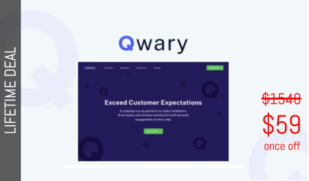 WAS AND NOW - Qwary Lifetime Deal for $59 WAS $1548.00