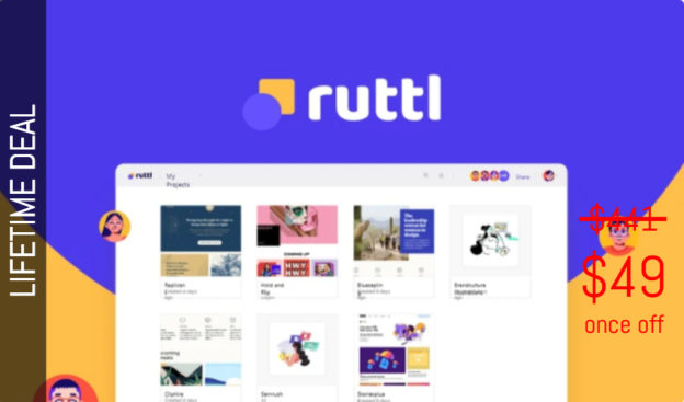 WAS AND NOW - ruttl Lifetime Deal for $49 WAS $441.00