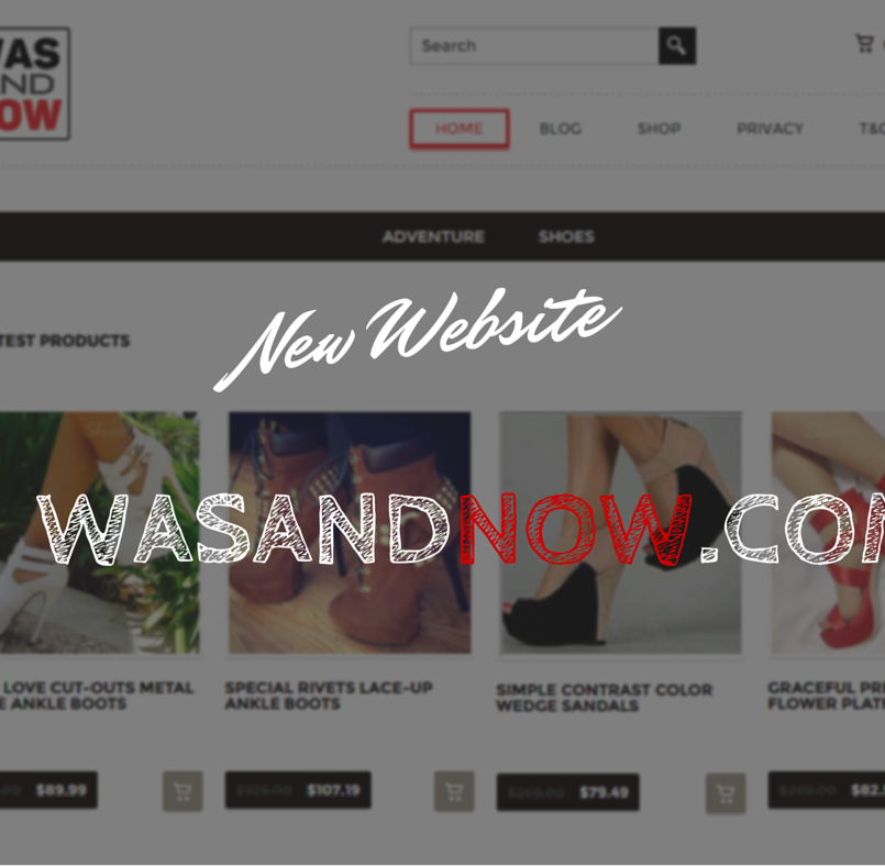 New Website wasandnow