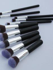 10 Pcs Nylon Fiber Cosmetic Brush Set