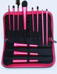 11  Pcs Nylon Fiber Make Up Brush Set with Bag