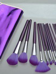 16  Pcs Goat Hair Wood Handle Brush Set