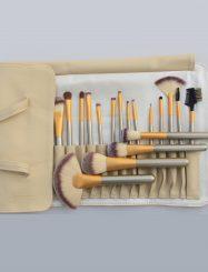 18 Pcs Animal Fibers Cosmetic Brush Set