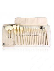 18Pcs Nylon Fiber Wood Handle Cosmetic Brush Set