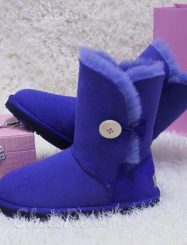 Fashionable Contrast Color Comfortable Snow Boots With Botton