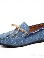 Letters Print Strappy Loafers