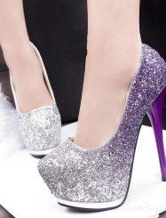Shinning Korean Night Club Platform Heels