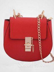 Shoespie Red Chain Crossbody Handbag