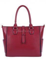 Shoespie Solid Stitches Design Women Handbag