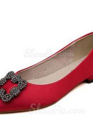 Striking Metal Decorated Pointed Toe Flats